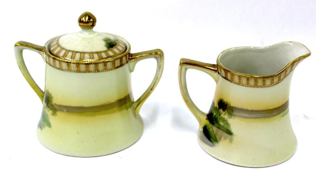 Nippon Tea Set . Signed. 3 pc. - 6