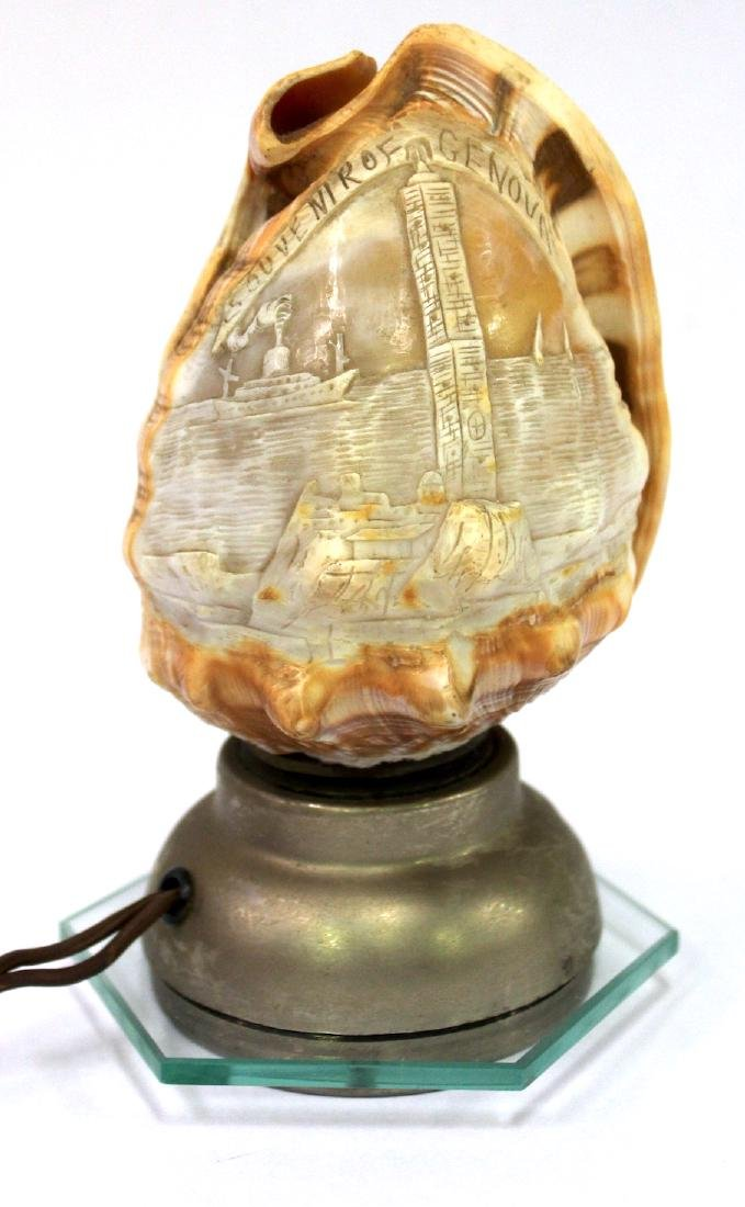 Seashell Nite Lamp. Souvenir of Genoa