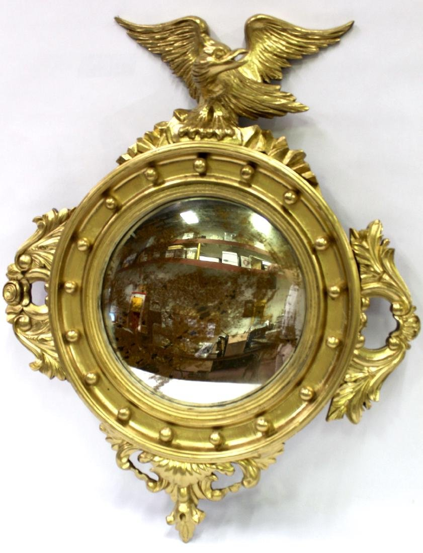 Gilt Framed Carved Mirror in the Federal Style