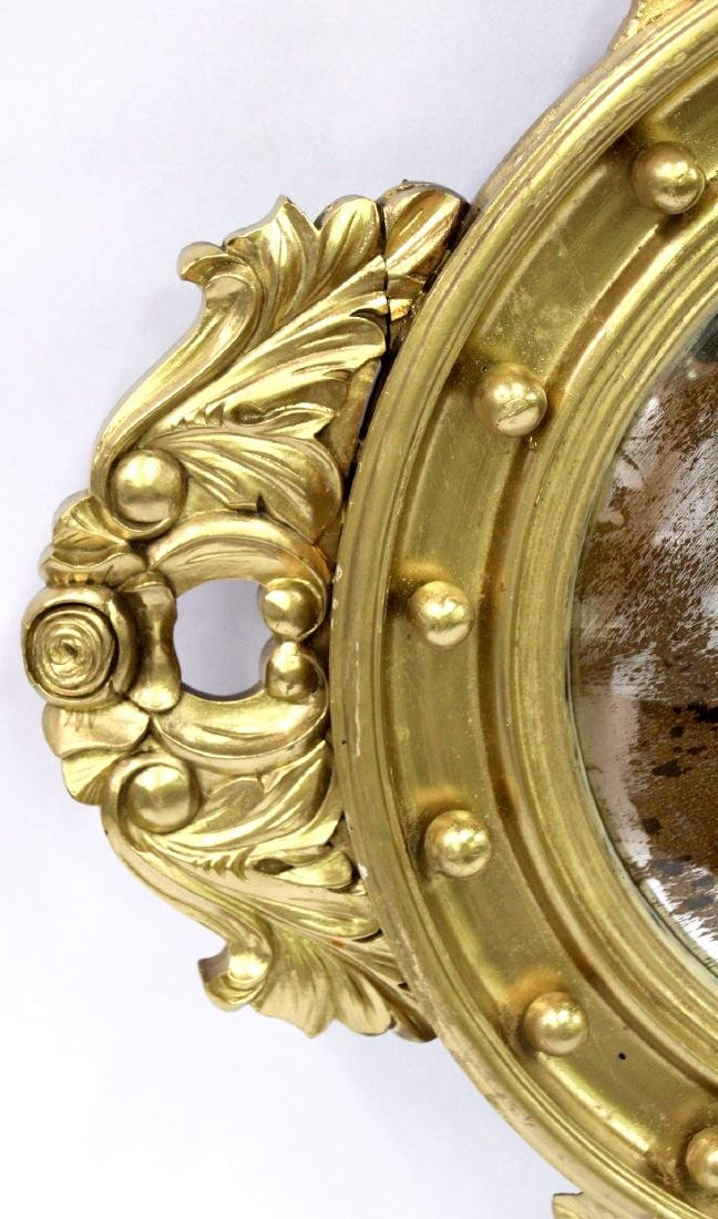 Gilt Framed Carved Mirror in the Federal Style - 3