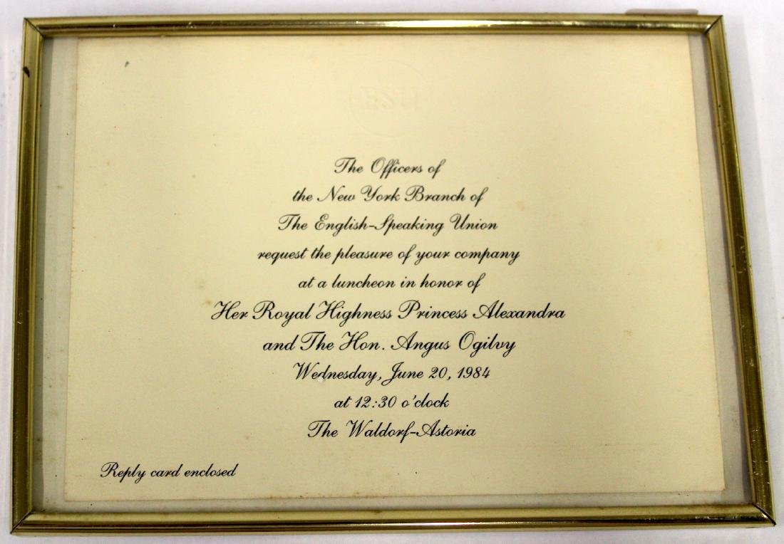 1984 Invitiation ro a Royalty Luncheon