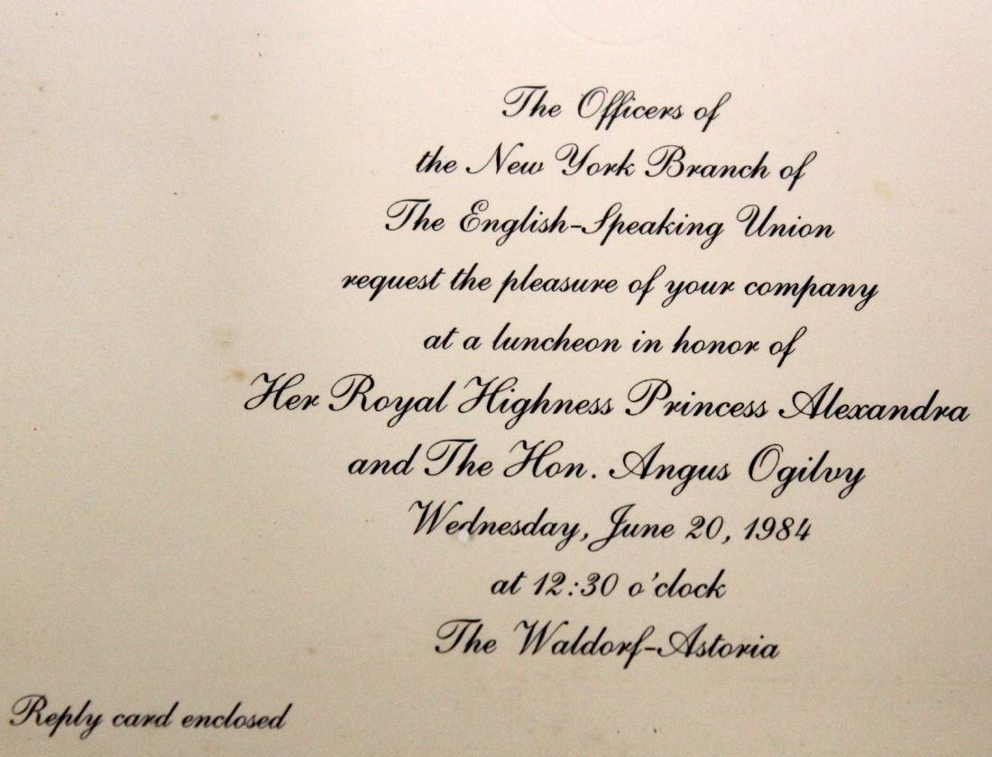 1984 Invitiation ro a Royalty Luncheon - 2