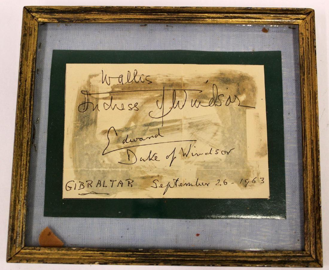 Wallis Simpson. Duke of Windsor Autographs