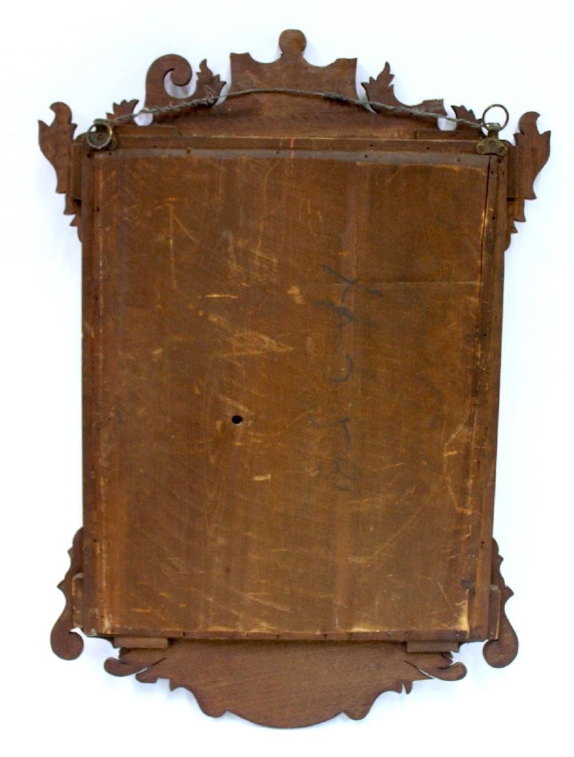 Victorian Walnut and Gilt Decorated Mirror - 5