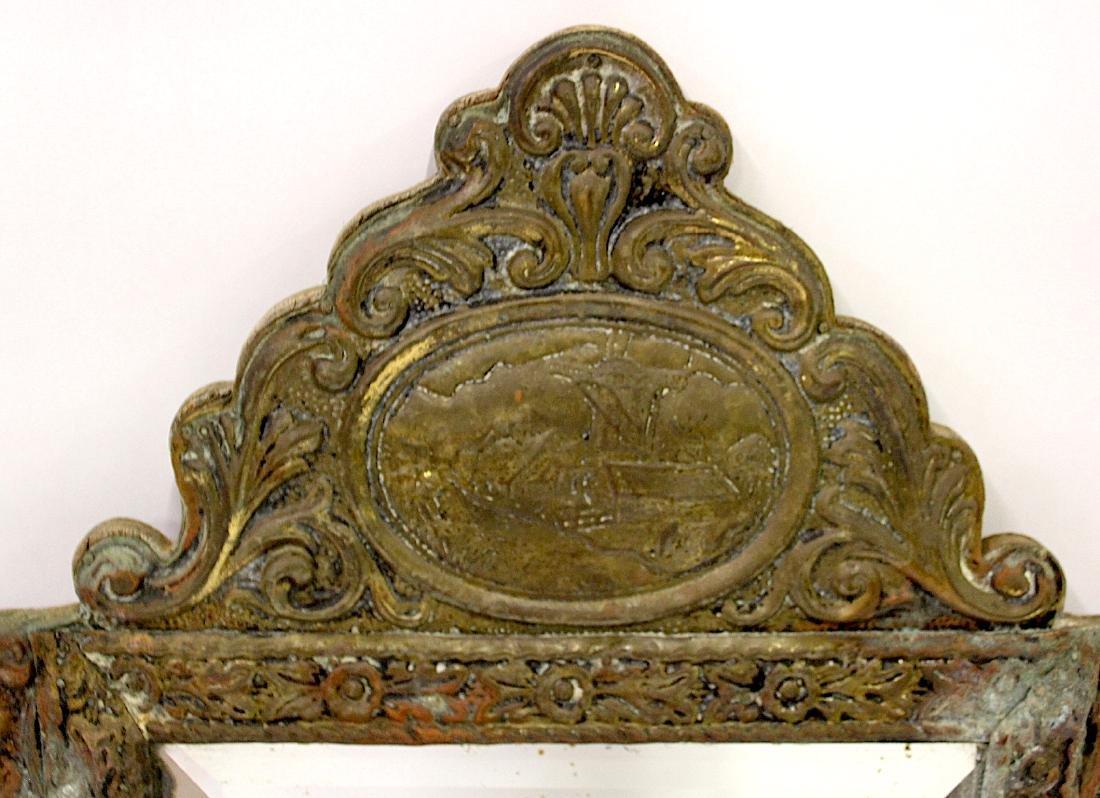 Victorian Gentleman's Brass Mirror - 3
