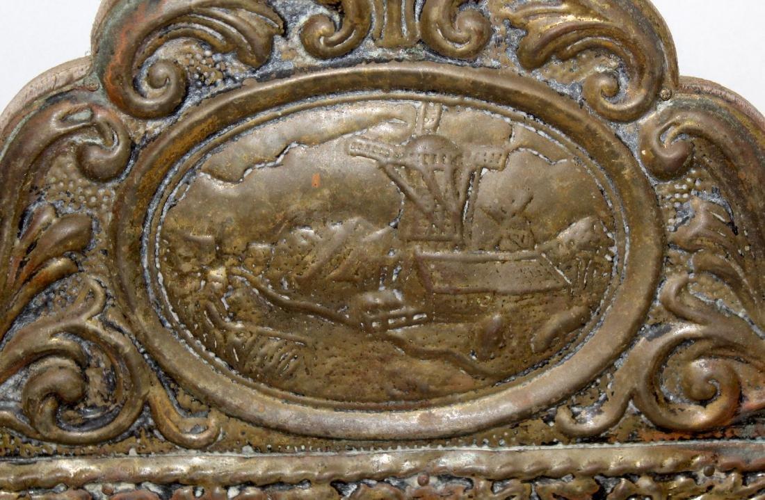 Victorian Gentleman's Brass Mirror - 4
