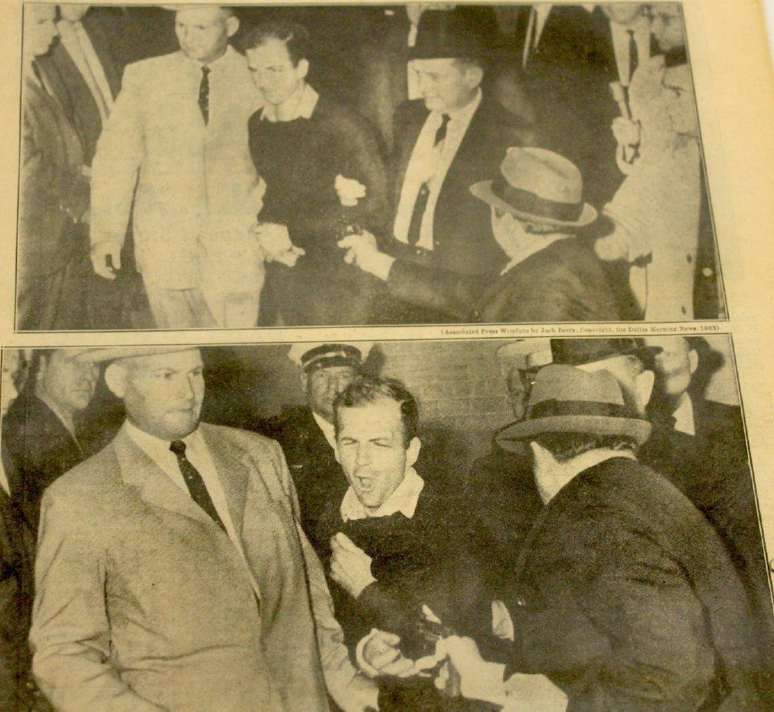 Daily News. Nov. 25th '63. Fatal Shot. Oswald Shooting. - 4