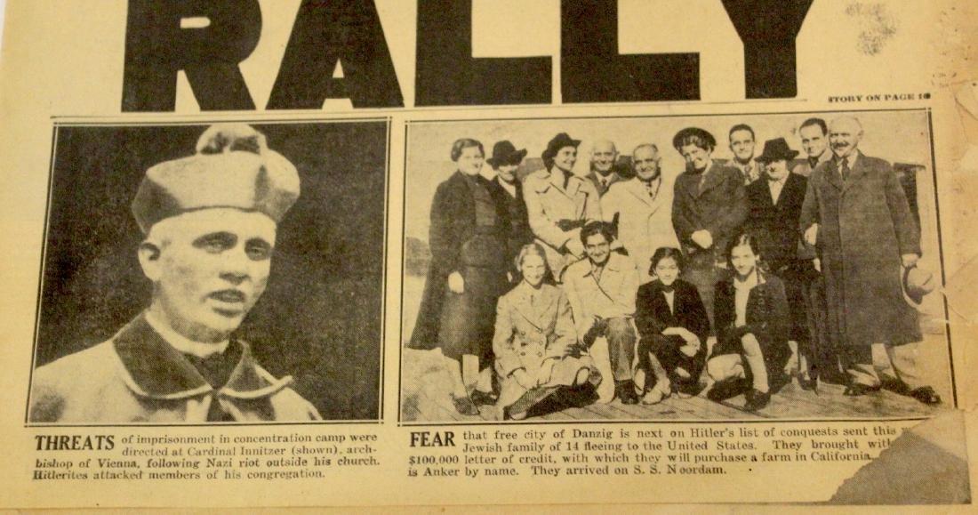 Phil. Daily News. Oct. 10, 1938. Nazis Raid Catholic - 3