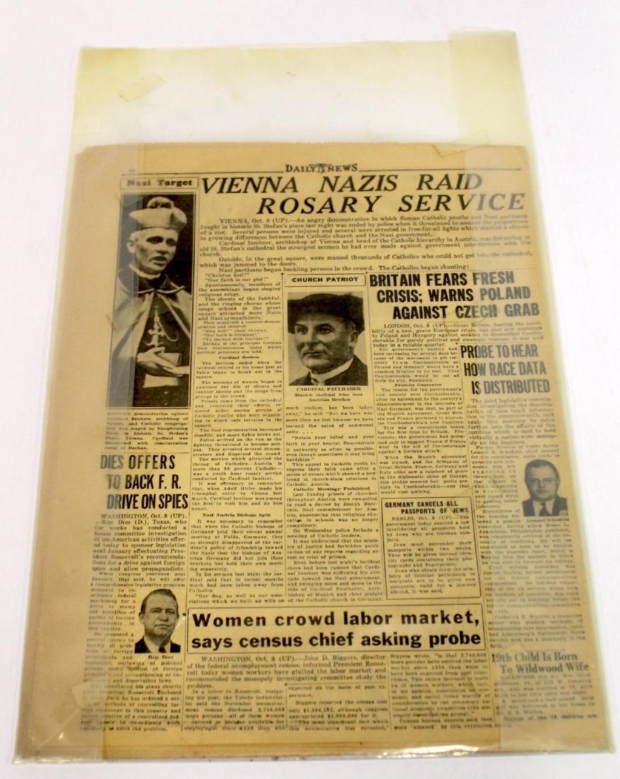 Phil. Daily News. Oct. 10, 1938. Nazis Raid Catholic - 4