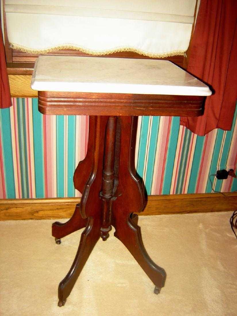 Victorian Mahogany Marble Top Table