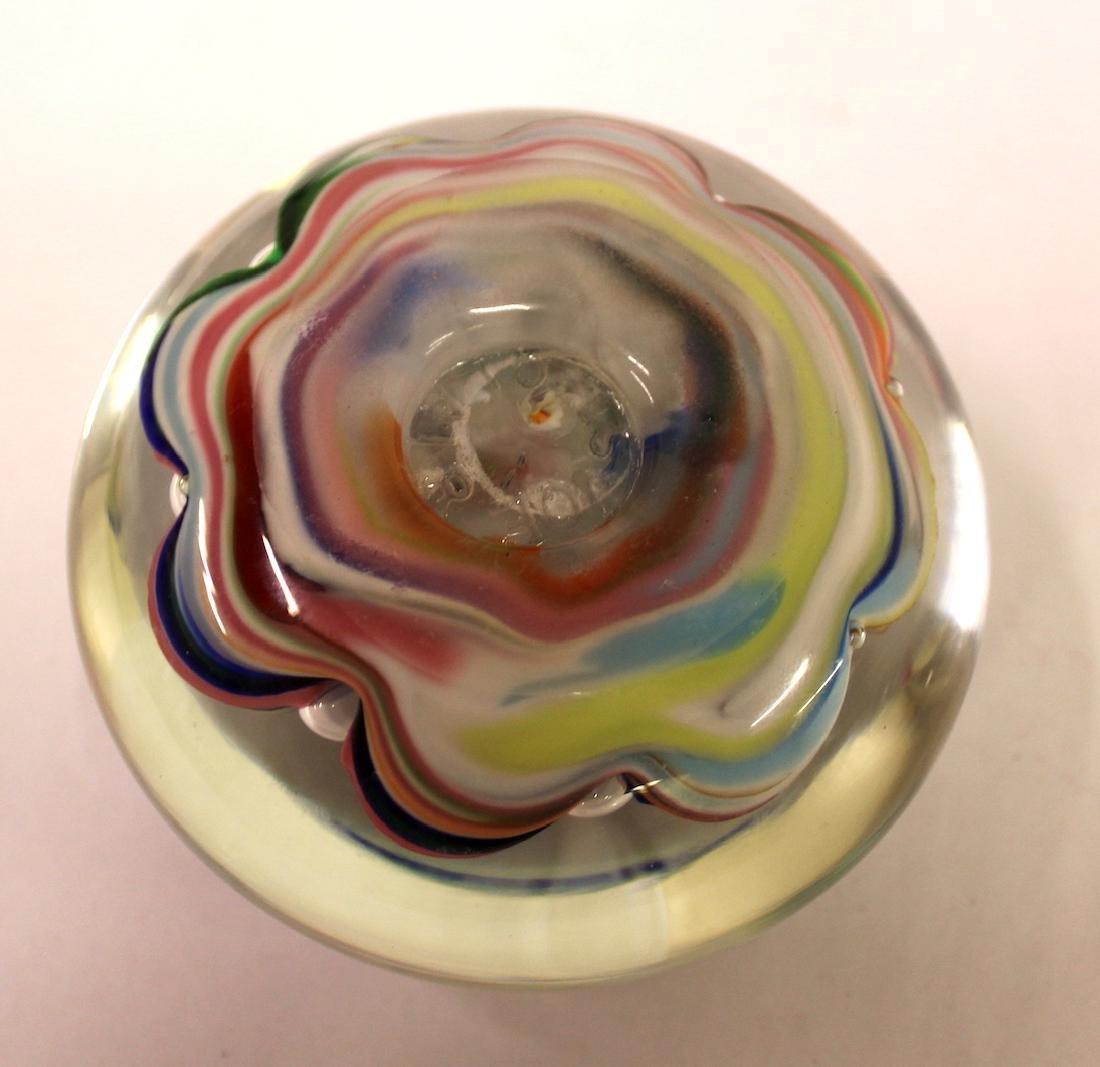 Artist Signed Art Glass Paperweights. (2) - 4