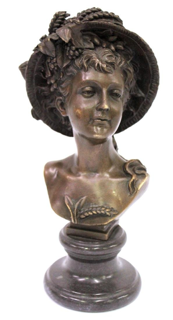 A. Carrier Belleuse. 19th C,  Bronze. Signed