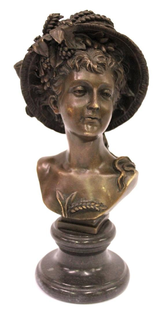 A. Carrier Belleuse. 19th C,  Bronze. Signed - 2