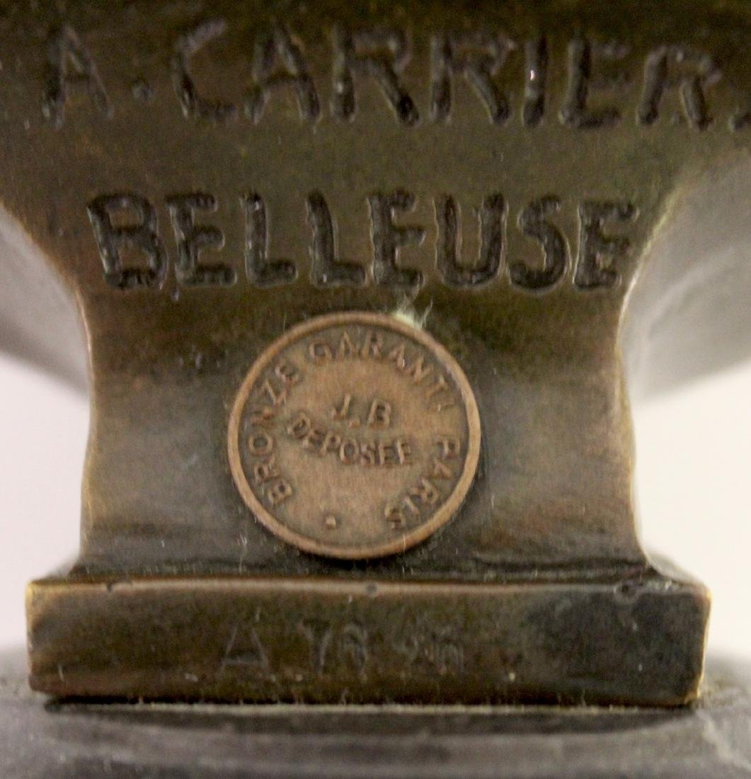 A. Carrier Belleuse. 19th C,  Bronze. Signed - 7