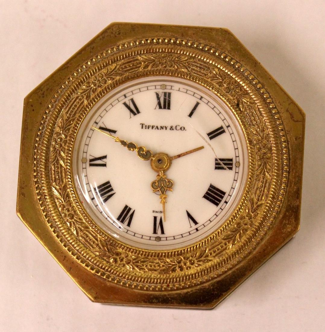 Tiffany and Co. Bronze Desk Clock.