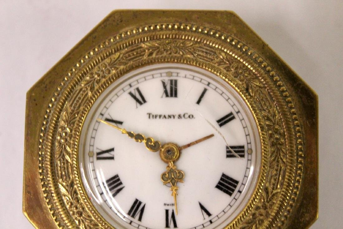 Tiffany and Co. Bronze Desk Clock. - 2
