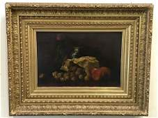 C S King Oil Still Life Signed
