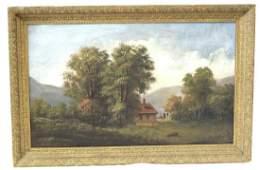 American Oil. Hudson River School. 19th C.