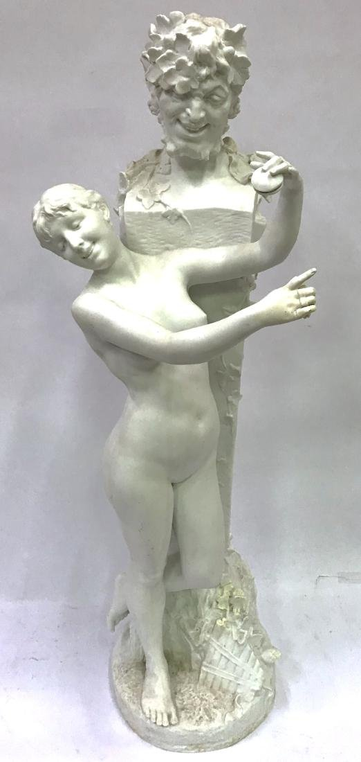 Dom. Vanden. Bossche. Polychromed Bronze. Sgd. - 2
