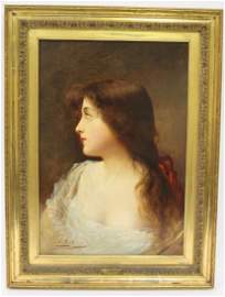 Asti. Oil. Portrait. Sgd.