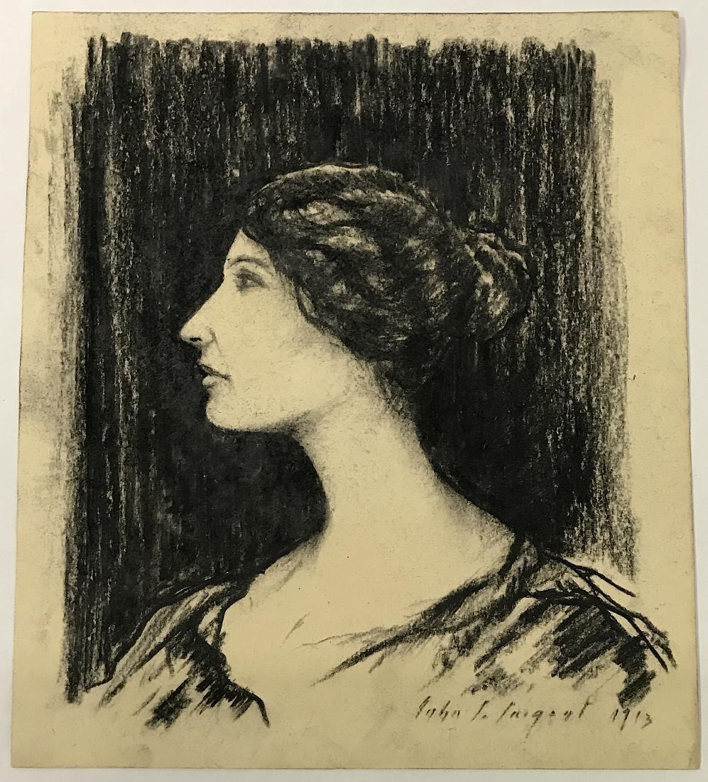 John Singer Sargent. Drawing. . Portrait. Sgd.