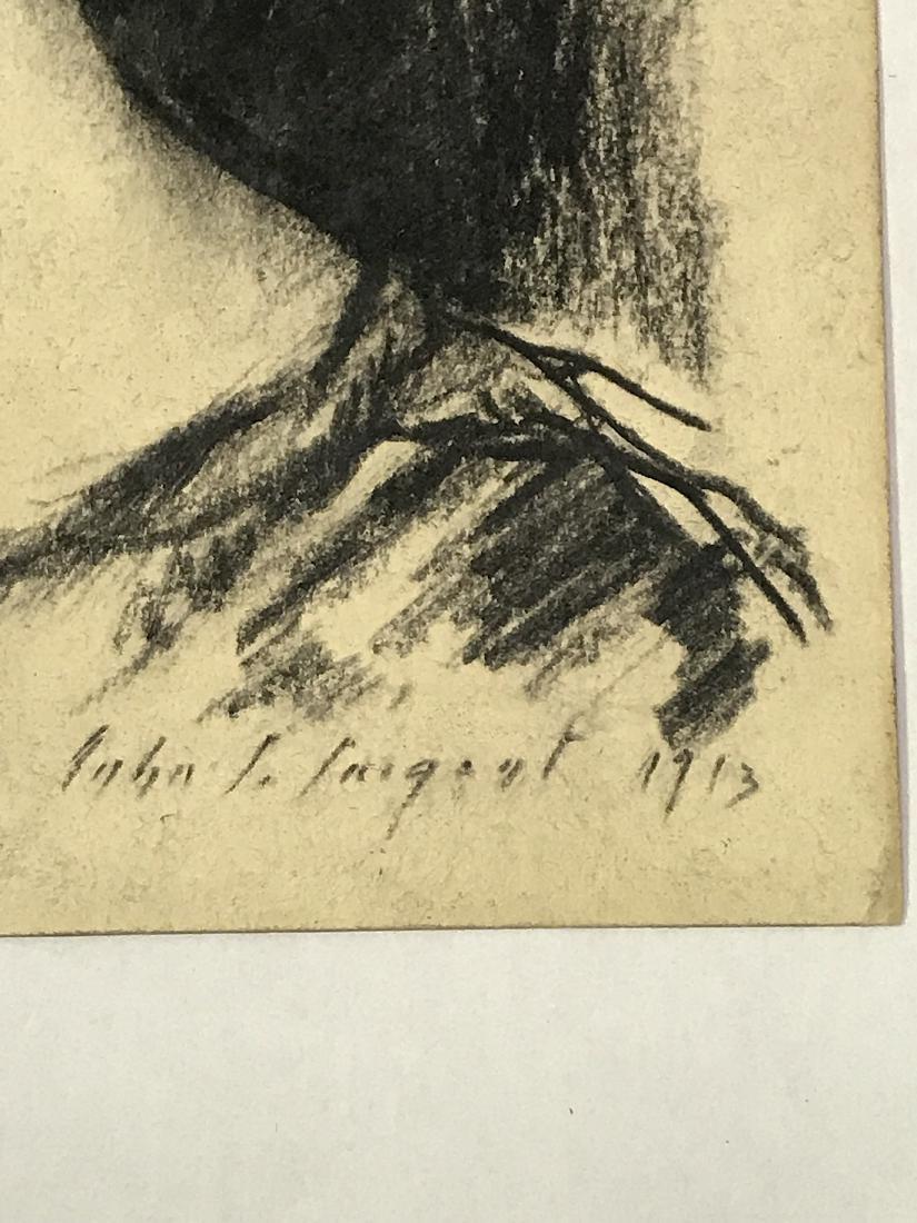 John Singer Sargent. Drawing. . Portrait. Sgd. - 3