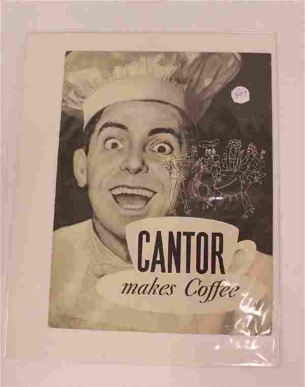 Eddie Cantor Advertisement for Chase Sanborn Coffee