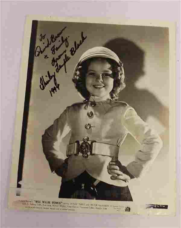 Shirley Temple Black Autograph