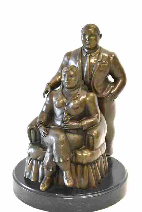 Fernando Botero(after); 20thC. Latin American Bronze