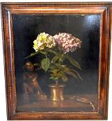 Anton van Anrooy Dutch Oil Still Life Signed