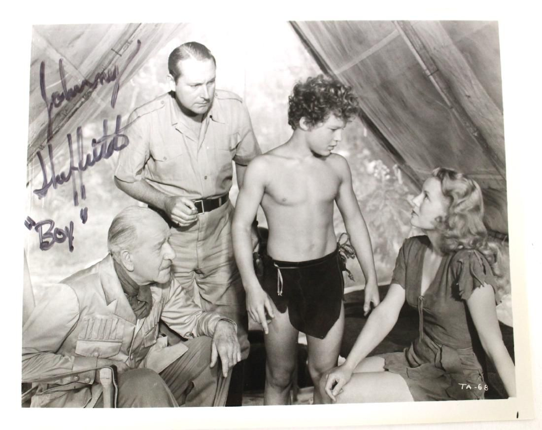 Tarzan Johnny Sheffield Boy Sgd. Photo