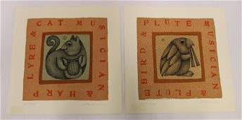 Jablonsky. Carol. Ltd. Edition Lithograph Sgd. (2)