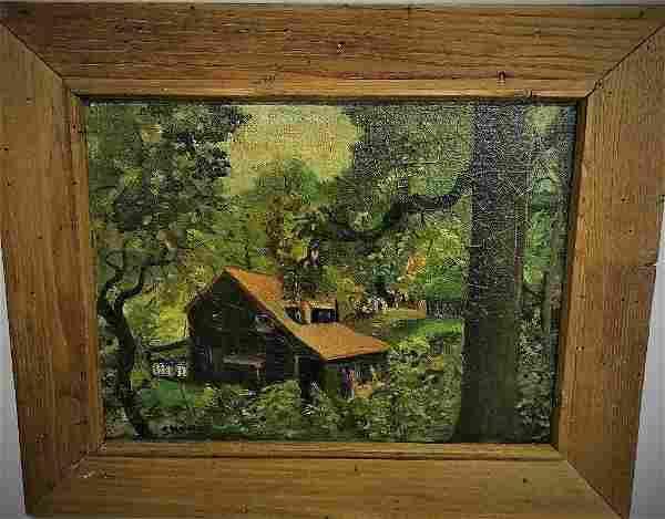 R. Novelli. Oil. House in Rural Landscape. Sgd.