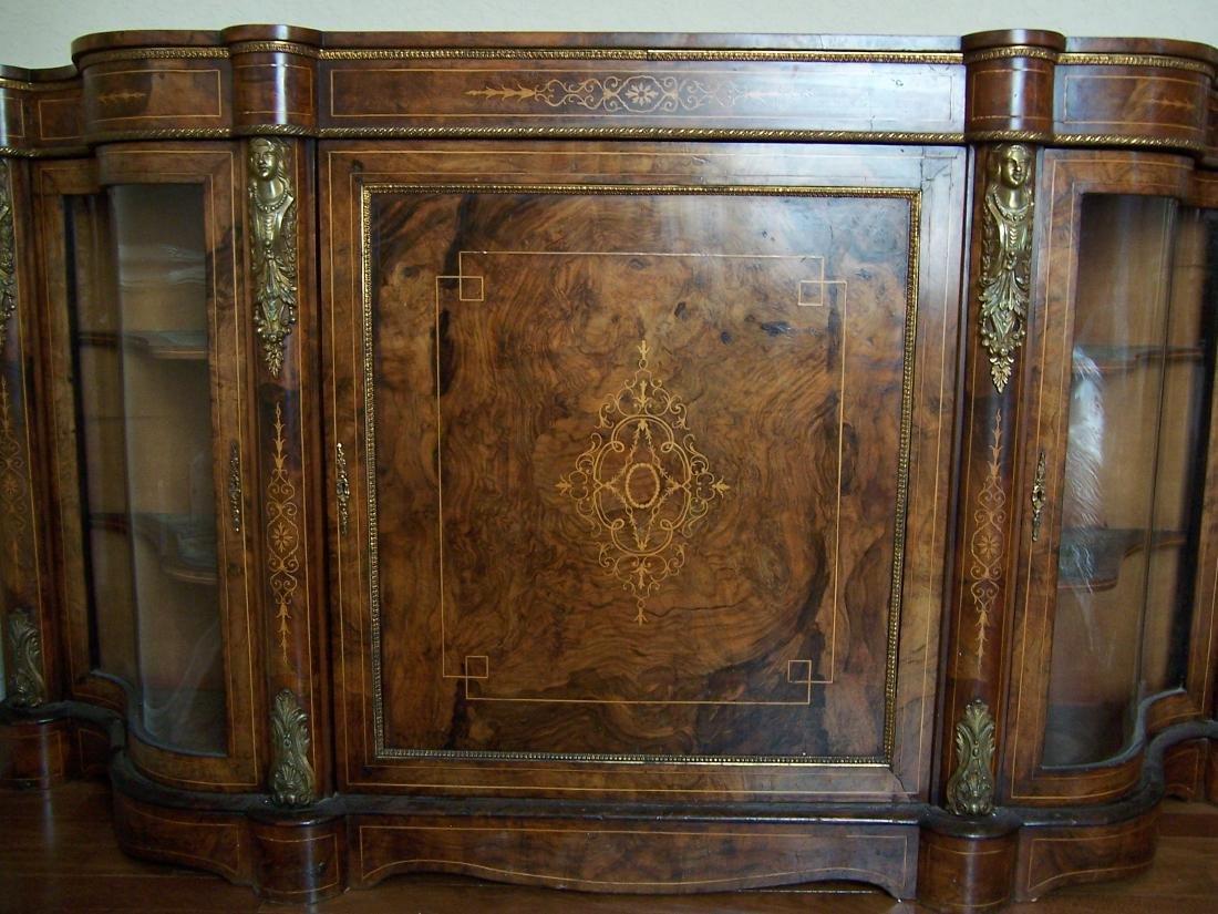 Victorian Inlaid Walnut Credenza. C. 1865-1890 - 2