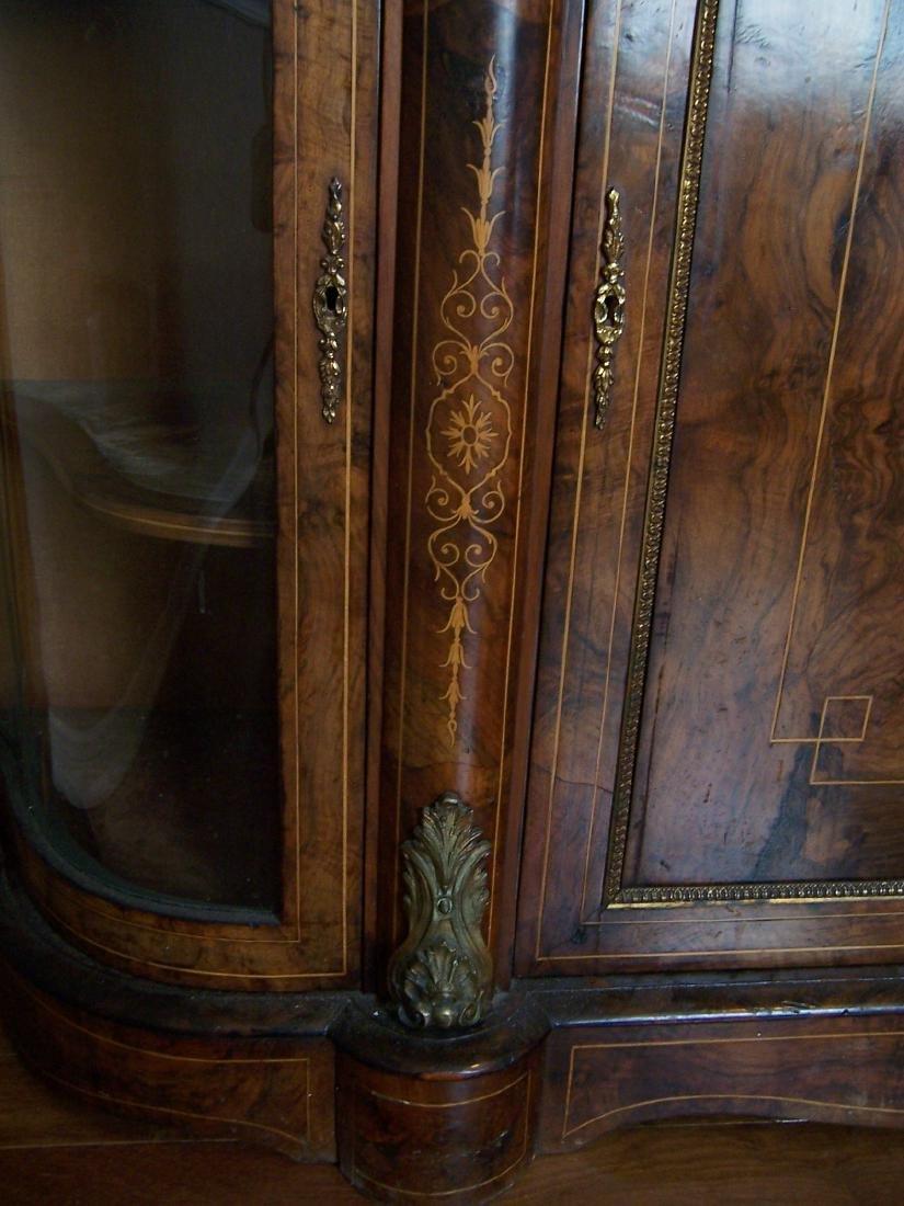 Victorian Inlaid Walnut Credenza. C. 1865-1890 - 7