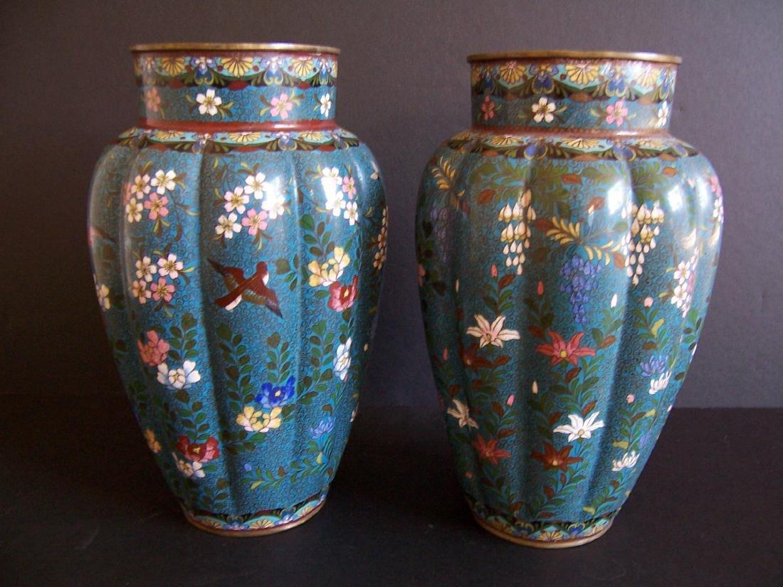 Japanese Cloisonne Vases, Edo to Meiji Period(Pr.)