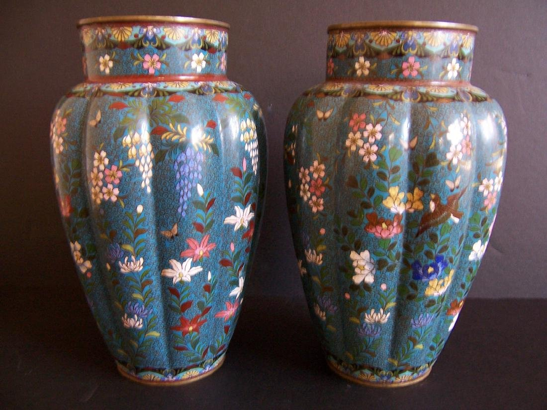 Japanese Cloisonne Vases, Edo to Meiji Period(Pr.) - 2
