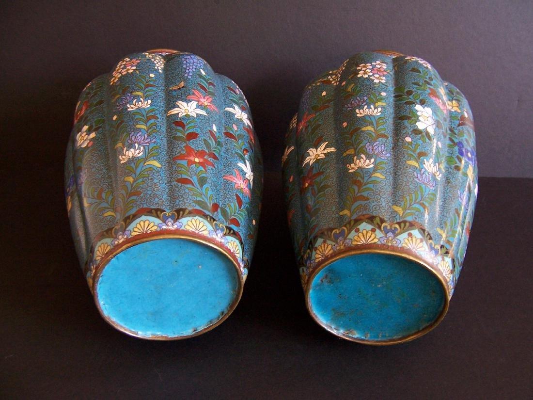 Japanese Cloisonne Vases, Edo to Meiji Period(Pr.) - 4
