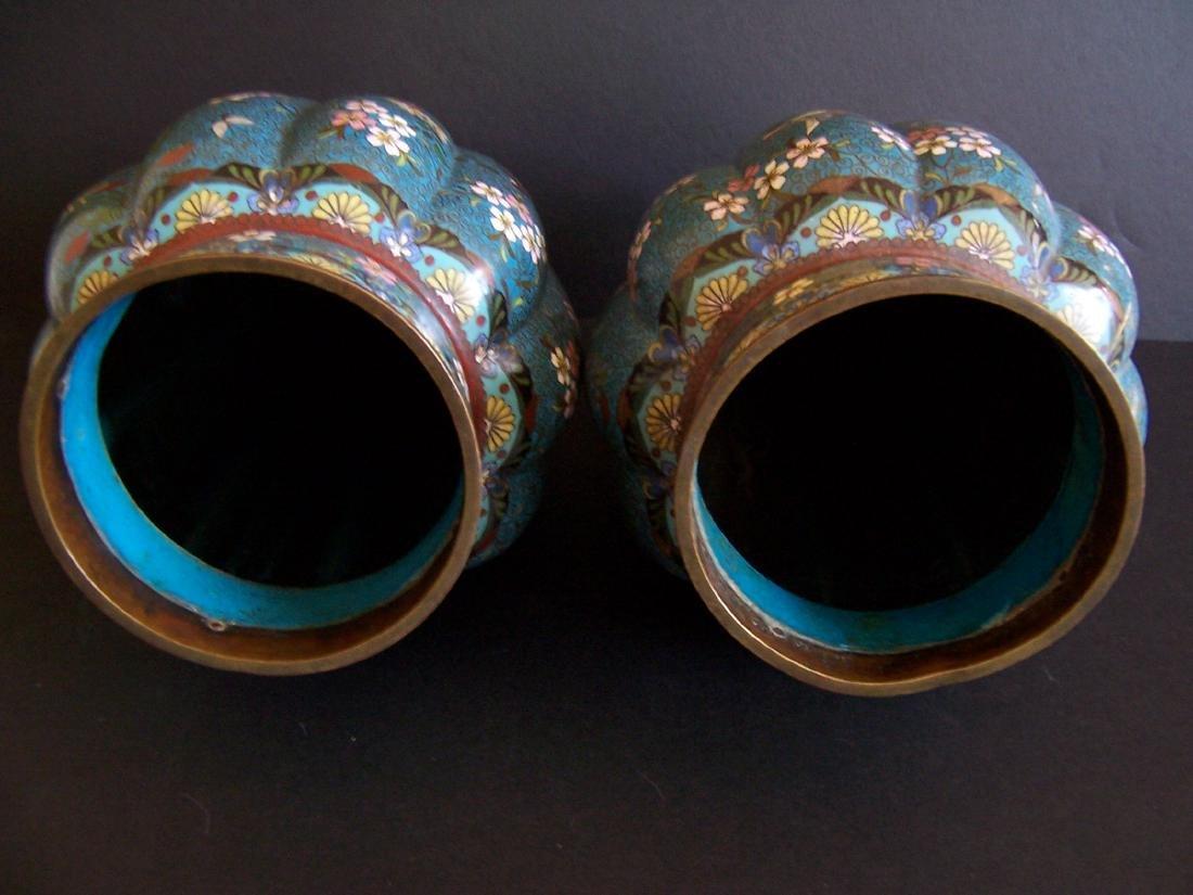 Japanese Cloisonne Vases, Edo to Meiji Period(Pr.) - 7