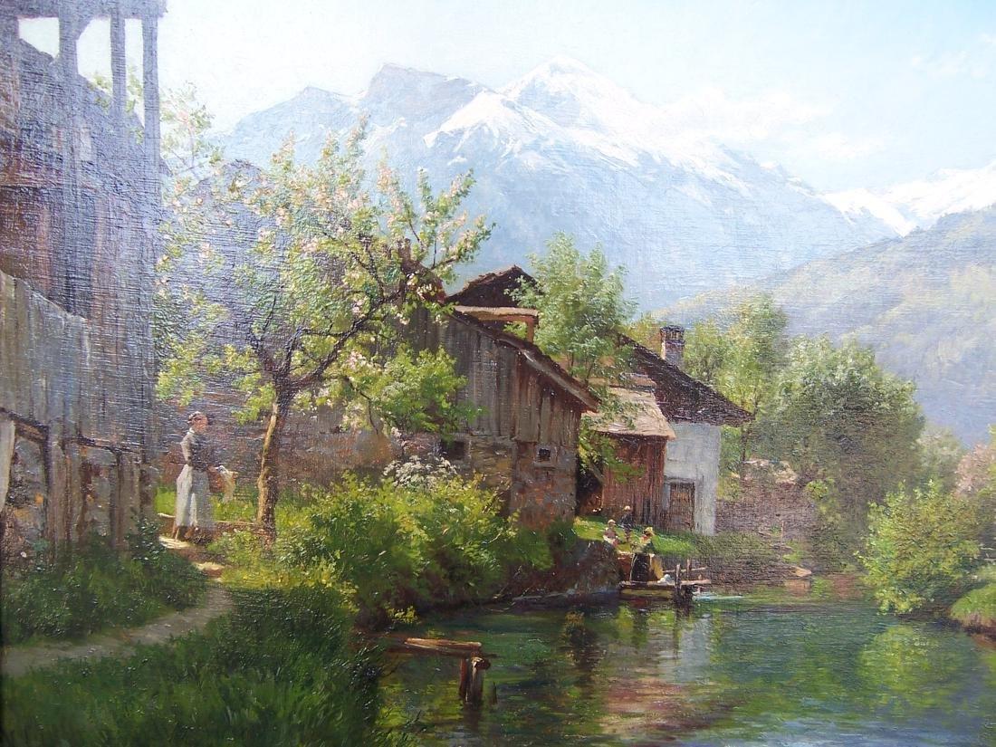 August Fischer ((1854-1921). Dutch.  Oil. Interlaken - 2
