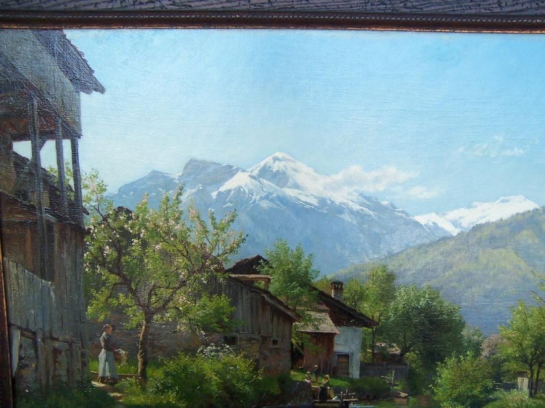 August Fischer ((1854-1921). Dutch.  Oil. Interlaken - 3