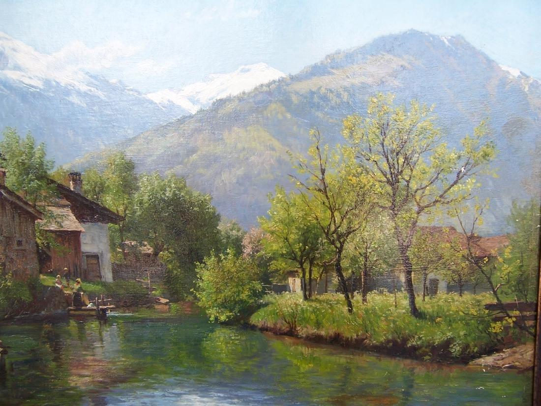 August Fischer ((1854-1921). Dutch.  Oil. Interlaken - 4