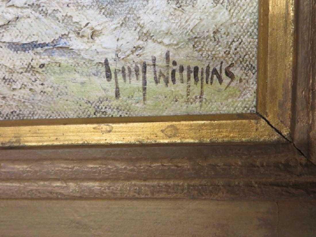 """Guy Wiggins. Oil. """"Brooklyn Bridge"""" Sgd. - 2"""