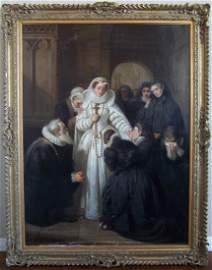 19th C. Oil English School Masterpiece