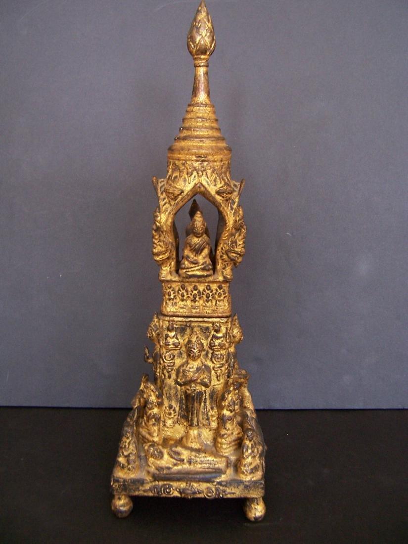 19th C. Bronze Reliquary.  Rattanakosin Period
