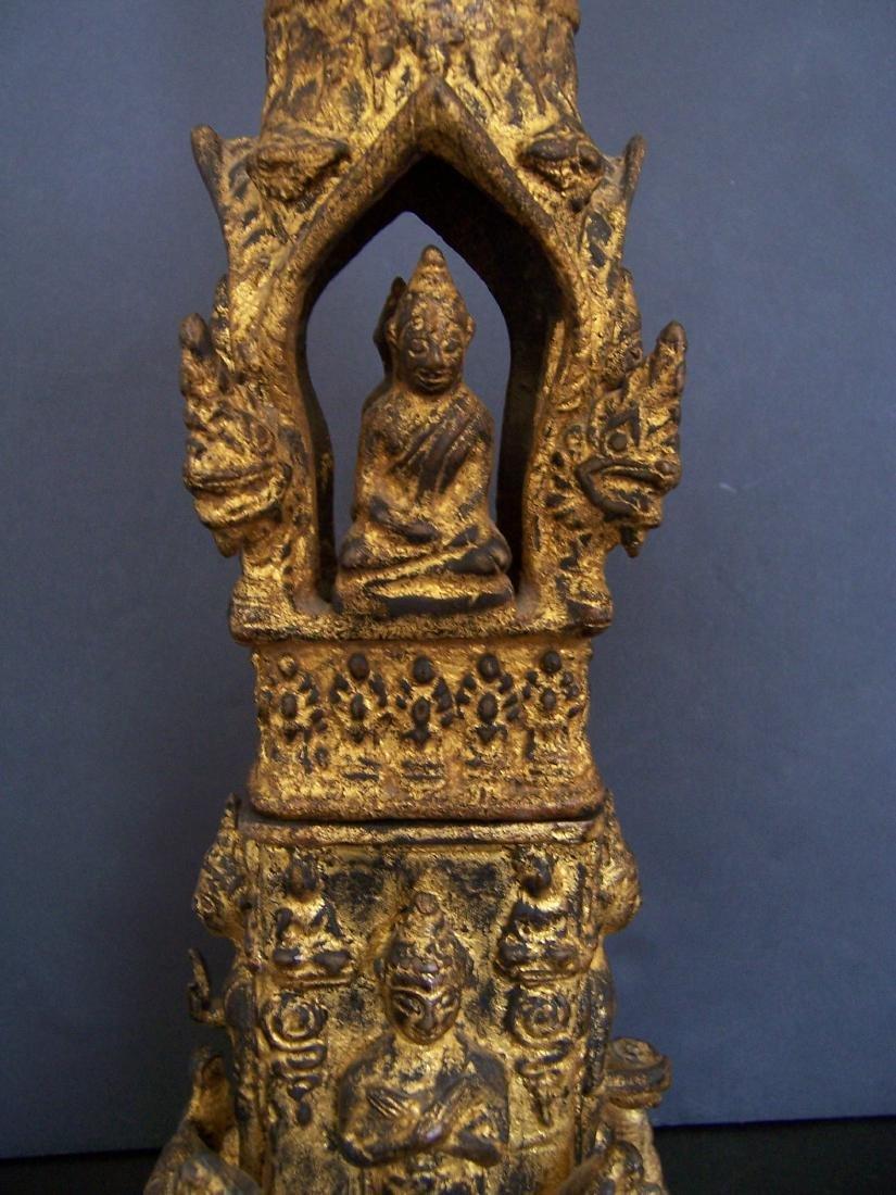 19th C. Bronze Reliquary.  Rattanakosin Period - 4