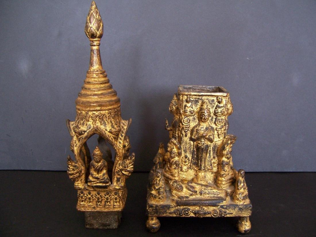 19th C. Bronze Reliquary.  Rattanakosin Period - 5