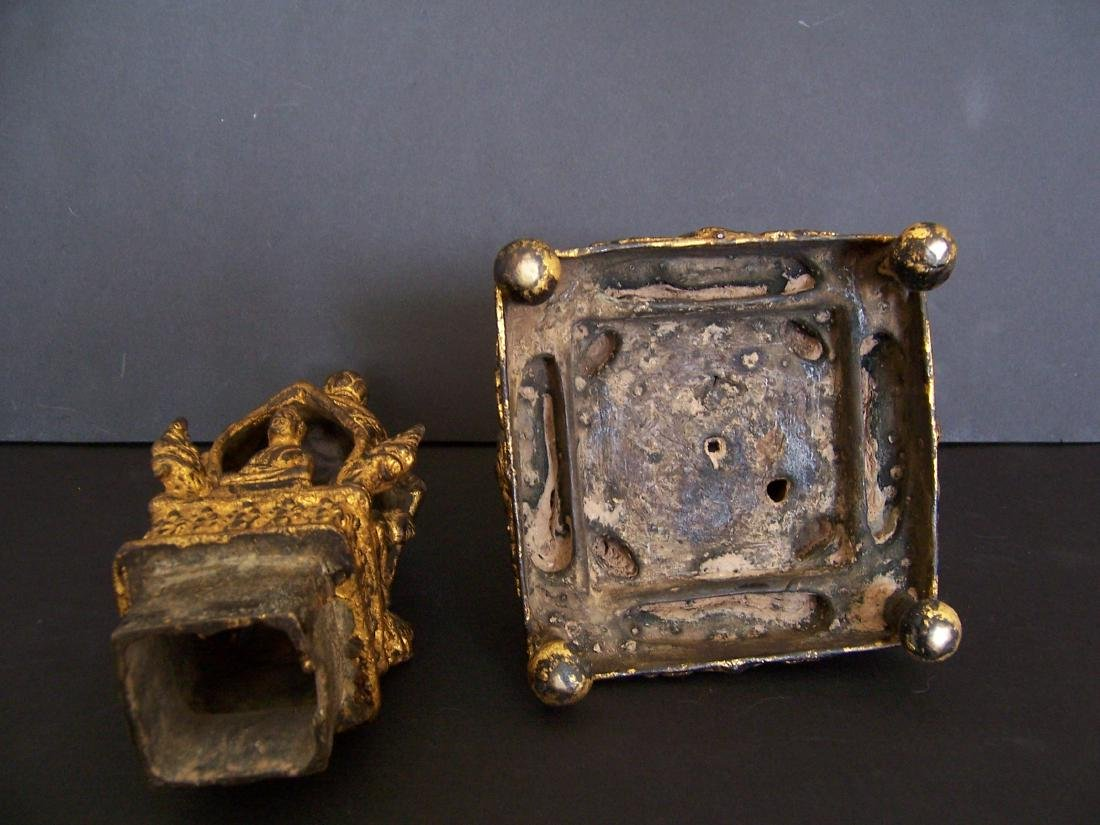 19th C. Bronze Reliquary.  Rattanakosin Period - 6