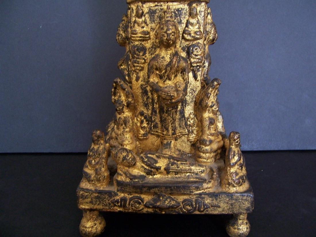 19th C. Bronze Reliquary.  Rattanakosin Period - 8
