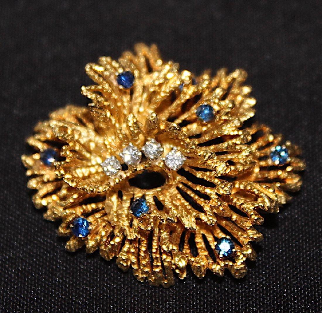 Tiffany & Co. 18K Brooch and Earrings. - 3